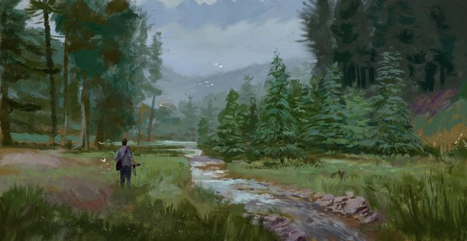 Study from photo - Forest by Lyno3ghe