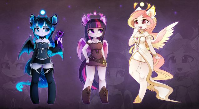 Anthro goddesses by MagnaLuna