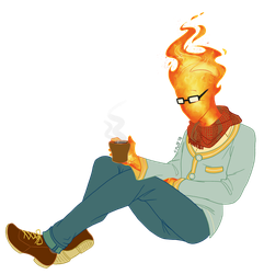 Commission: Grillby by C-Puff