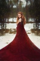 Lady in red by Eva-Milan