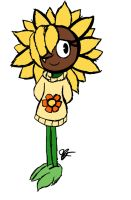 sketchy doodle - sunny the sunflower by GG-The-Artist