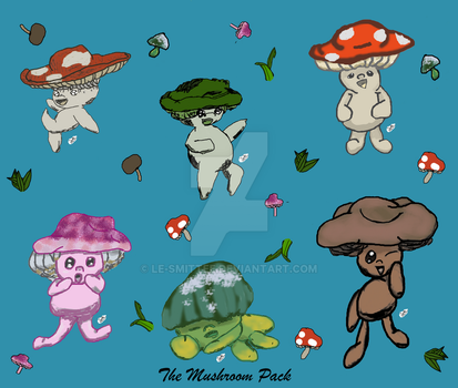 The Mushroom Pack by Le-Smittee