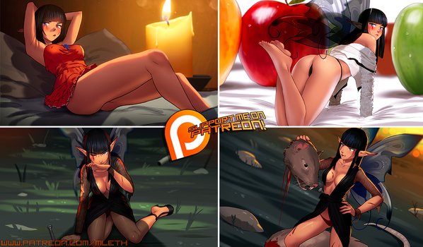 Patreon November 2017 Art Pack! by MLeth