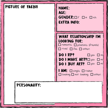Faebii Relationship Form by RicePoison