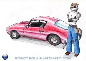 Hotrod - Anthro and his Camero by virago-rs