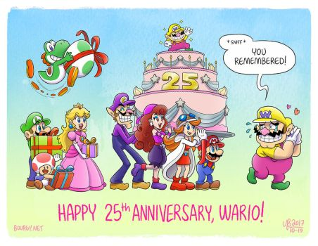 Wario 25th Wanniversary by TheBourgyman