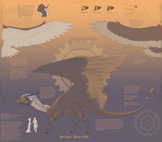 Kerenas and Ventiera ref sheet by Dostor