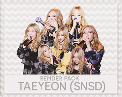 PACK PNG TAEYEON @151016 MUSIC BANK by victorhwang