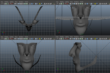 Face Design In Maya by KidDarknessAnimation