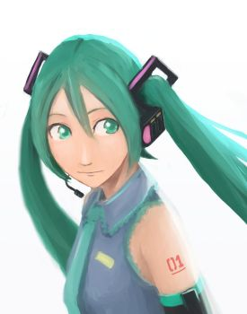 Miku's face by SemiMegami