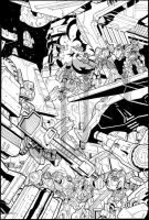 Iacon's Last Stand- INKS by JavierReyes