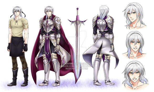 Lancelot Character Reference Sheet by Vhenyfire