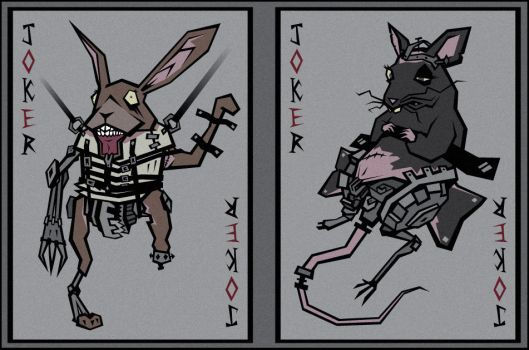 March Hare and Dormouse Jokers by InsidiousTweevle