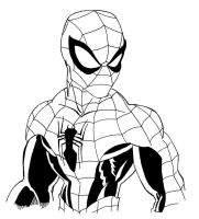 Spider-Man Inks by Blaze-Belushi