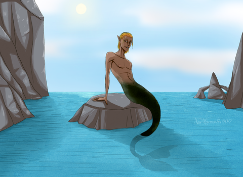 Fantasy AU - Mermaid!Zevran by MarmoshaNia