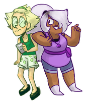 Human Peri and Amethyst by MeowTownPolice