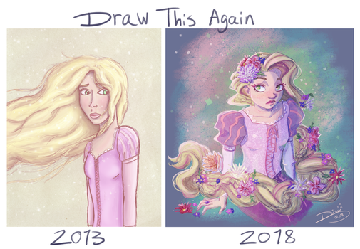 Draw This Again: Rapunzel by Jellyfishbubblez