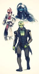 more Mass effect 3 sketches by pu
