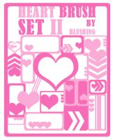 Heart Brush Set II by blushing