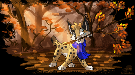 Taking Autumn with me by JB-Pawstep