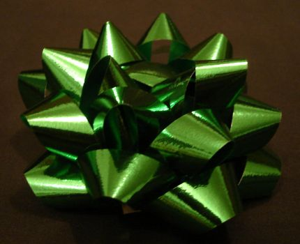 Green Christmas Present Bow 1 by FantasyStock