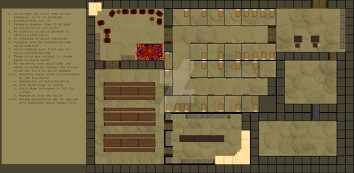 Adventure Guild Layout Design by Draconic-Lover