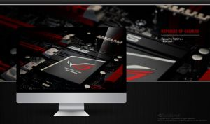 ROG Motherboard Wallpaper by solutionall
