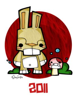 Happy New Year of the Bunny by eggay