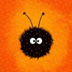 Orange Cute Dazzled Bug in Winter by azzza