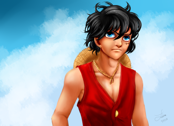 I'm Trying to Paint a Luffy ok by CartoonOwl