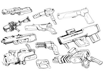 W20180708 - Sunday weapon doodles by StMan