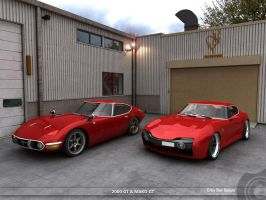 Toyota 2000GT and Mako Gt by Sphinx1