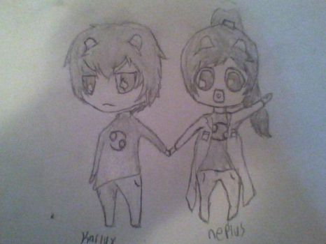 Karlux and neplus, if nepeta and karkat had twins by Zegrath