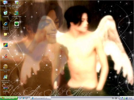 New Desktop: You are not alone by NatouMJSonic