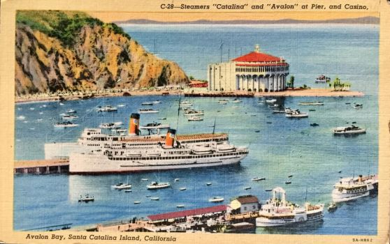 Vintage California - Steamers Catalina + Avalon by Yesterdays-Paper