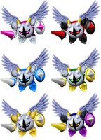 Galacta Knight Color Swaps by shadowgarion