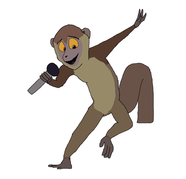 Singing lemur by Dandinofthebluefire