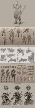 Mech Knight Concepting by deviouslydevon