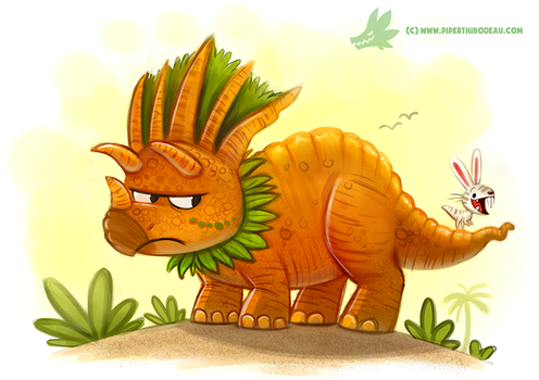 Daily Paint #1201. Tricarrotops by Cryptid-Creations