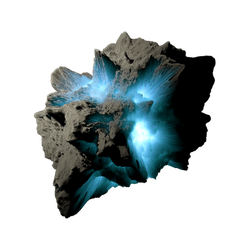Asteroid Meteor Lightblue Transparent Space Stock by LapisDemon