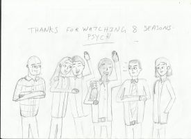 psych fan art -Thanks for watching psych-o's by joey2132132