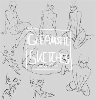 F2U: Gleamstic-only Sketches V1 ! by Cyleana