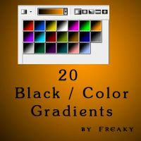 Photoshop black color gradient by freaky-x