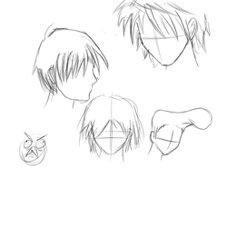 Can't draw guys hair D: by wudup