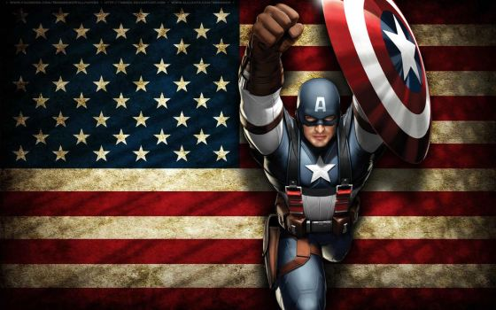 Captain America Wallpaper by bbboz