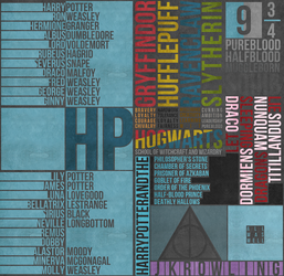 Harry Potter Text Poster by theramunefizz