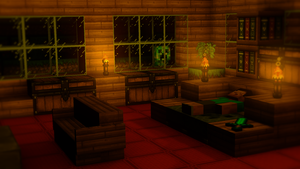 Minecraft 3D room by TheEvOlLuTiOnS