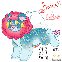 Roses and Cotton :OPEN AUCTION: Lacelions by PilusWorks