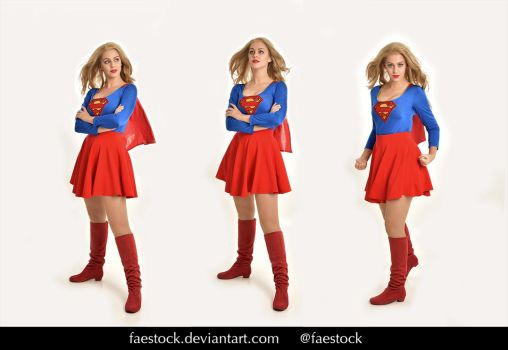 Supergirl  - Stock model reference pack 26 by faestock