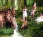 Nymphs and satyr by mrkillabee